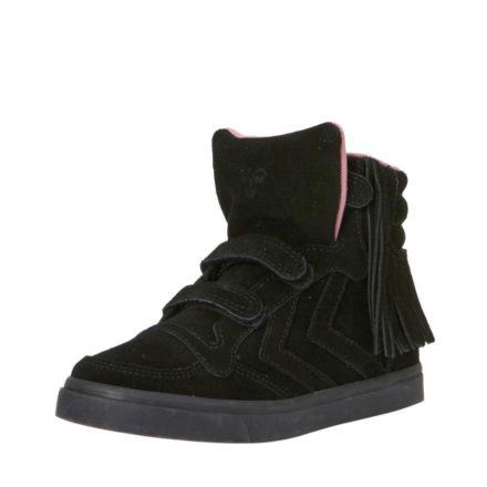 Hummel Stadil Fringles suède sneakers meisjes (zwart)
