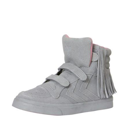 Hummel Stadil Fringles suède sneakers meisjes (grijs)