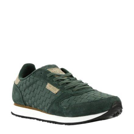 Woden Ydun leren sneakers (groen)