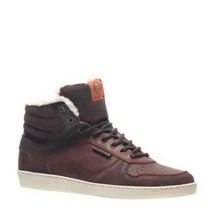 – Van Beers gevoerde leren sneakers (bruin)