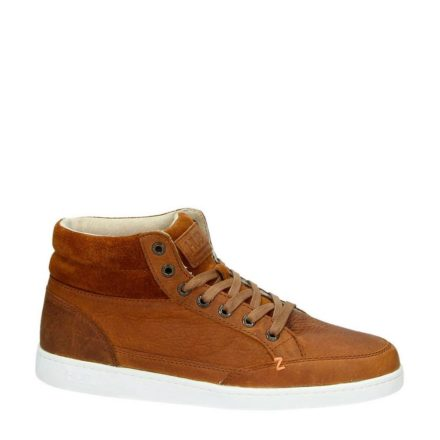Hub leren sneakers (bruin)