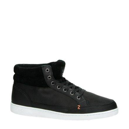 Hub leren sneakers (zwart)