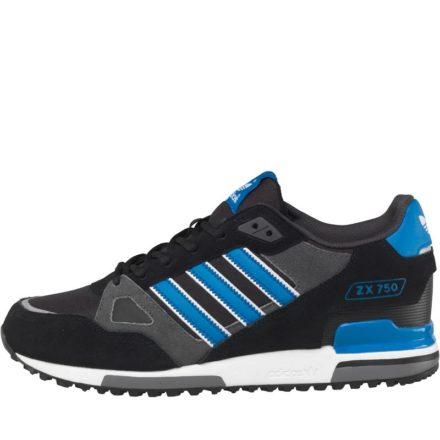 Adidas Originals Heren ZX 750 Sneakers Black/Bluebird/White