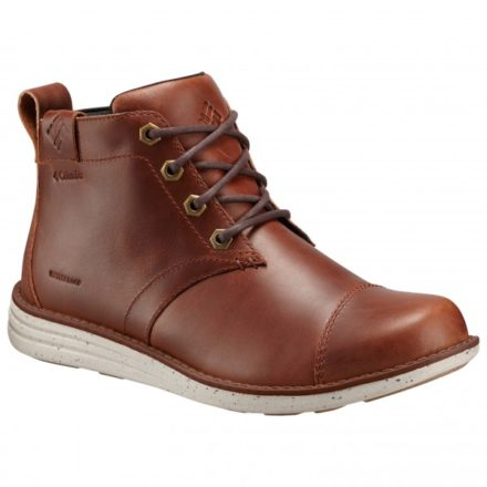 Columbia Irvington Leather Chukka Waterproof Bruin/Rood