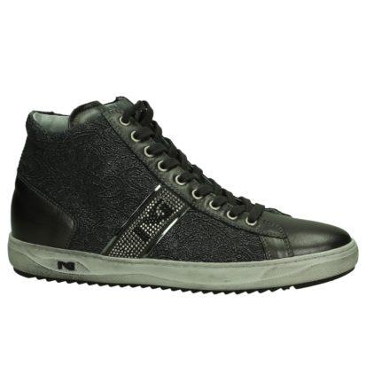 Nero Giardini Grijze Hoge Sneakers met Kant