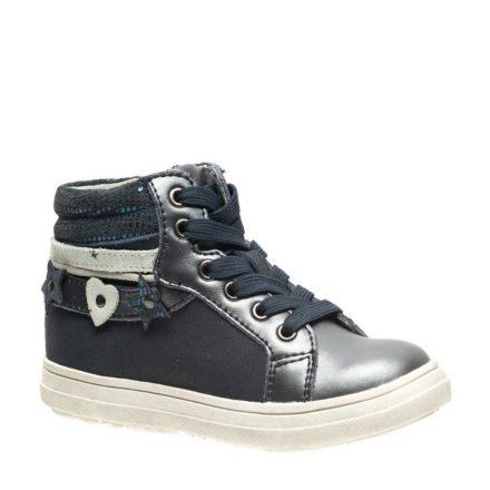 – Stapp leren sneakers meisjes (grijs)
