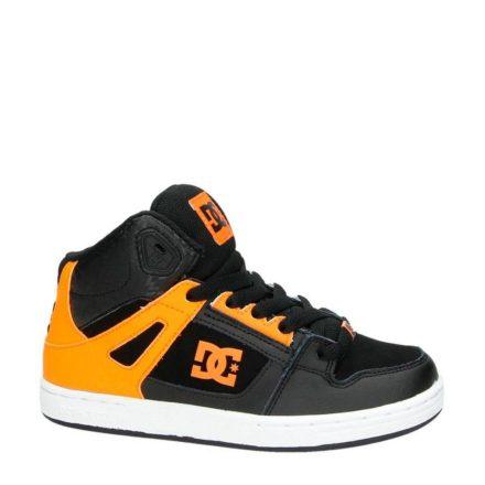 DC glow in the dark leren sneakers jongens (zwart)