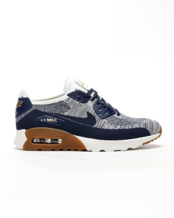 NIKE Air Max 90 Flyknit Ultra 2.0. (college navy/college navy-gum)