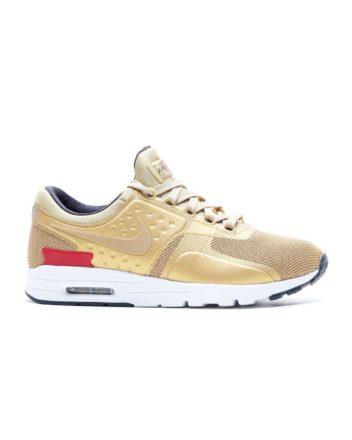NIKE Women`s Nike Air Max Zero Shoe (Metallic Gold/Varsity Red-Wht)