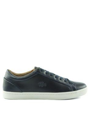 Lacoste Straightset sneaker leer (Blauw)