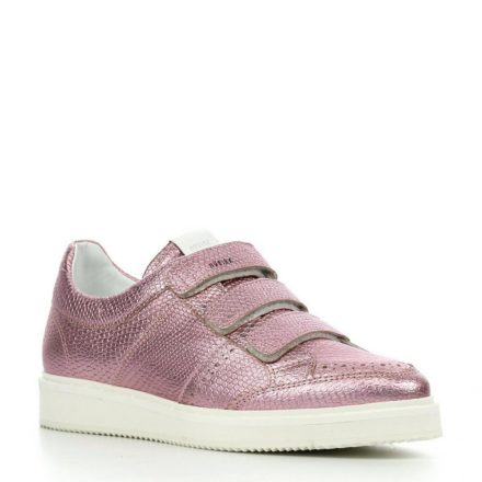 Nubikk Noah Strap Metallic leren sneakers (roze)