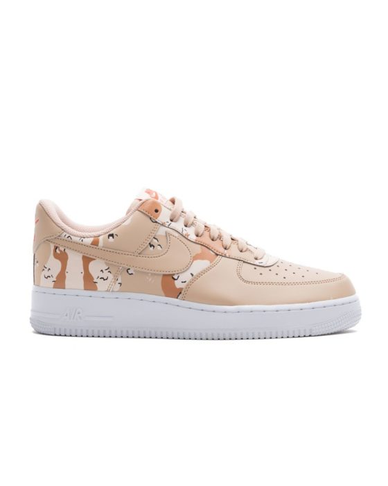 NIKE Air Force 1 `07 LV8 Country Camo Pack Glow in Dark (Bio Beige/Bio Beige-Orange Qua)