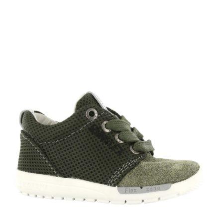 Shoesme leren sneakers jongens (groen)