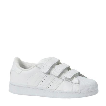 adidas originals Superstar Foundation C leren sneakers kids (wit)