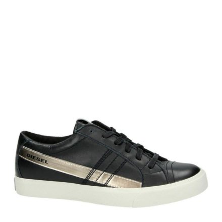 Diesel leren sneakers (zwart)
