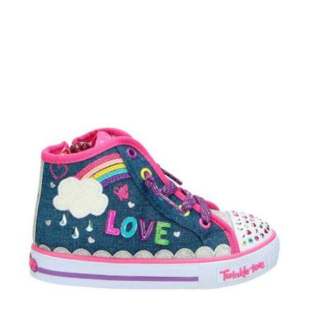 Skechers sneakers met glitters meisjes (blauw)
