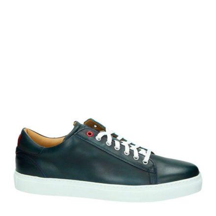 Greve leren sneakers (blauw)