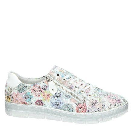 Remonte leren sneakers met bloemenprint (wit)