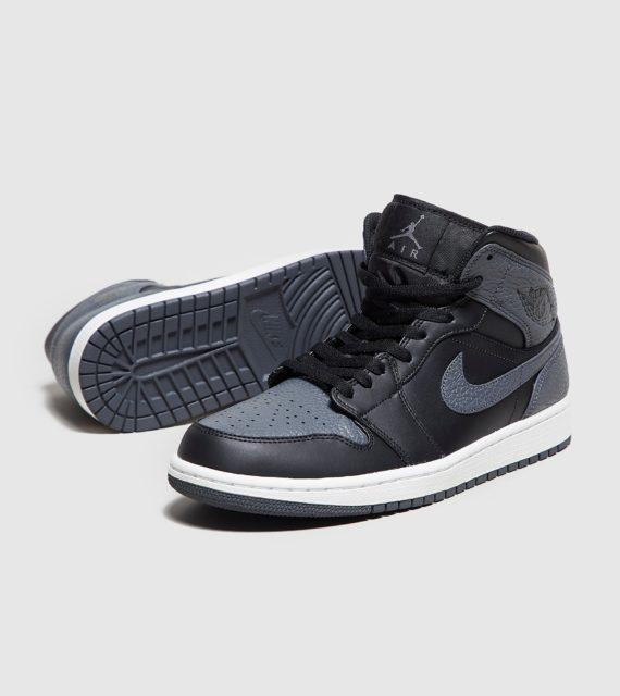 Jordan 1 Mid (zwart/grijs)