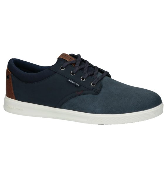 Jack & Jones Gaston Pu Blauwe Sneakers