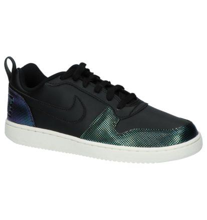 Zwarte Lage Sportieve Sneakers Nike Court Borough