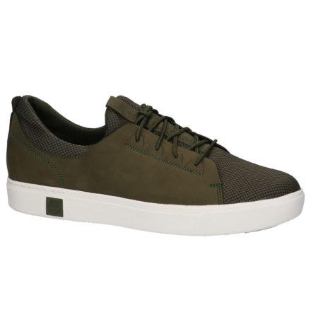 Kaki Lage Geklede Sneakers Timberland Amherst