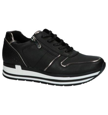 Marco Tozzi Zwarte Geklede Sneakers