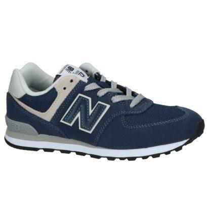 Donkerblauwe New Balance 574 Sneakers
