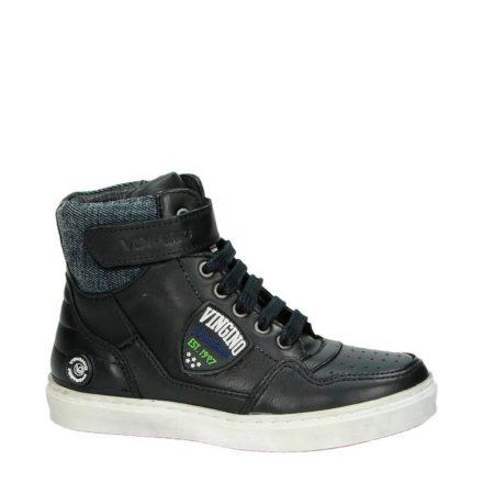 Vingino leren sneakers jongens (zwart)