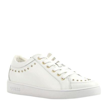 GUESS Figna 1 leren sneakers met studs (wit)