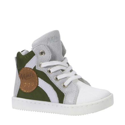 Kanjers sneakers met leer jongens (groen)