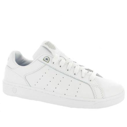 K-Swiss Clean Court 93323-101 Whit Gull Grey Sneaker (Wit)