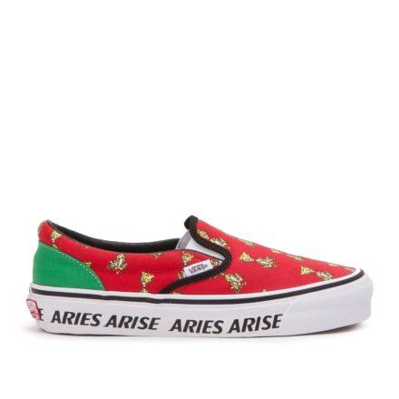 Vans x Aries OG Classic Slip-On (rood)