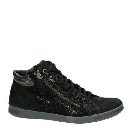 Nelson nubuck sneakers (zwart)
