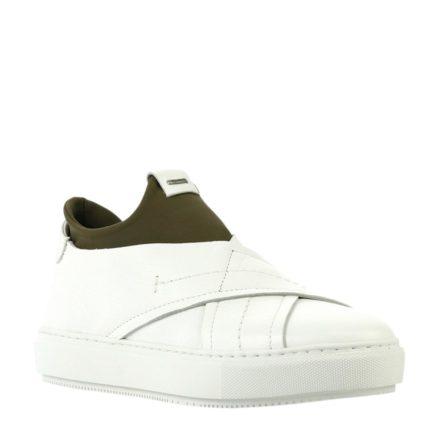 Shabbies Amsterdam leren sneakers (wit)