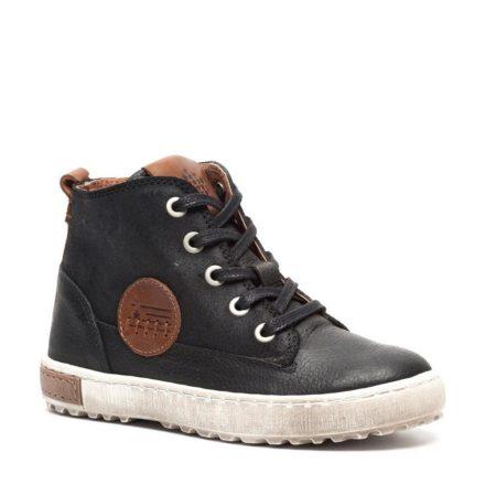 Groot leren sneakers jongens (zwart)