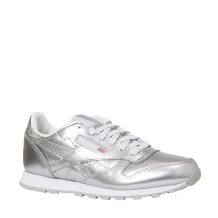 Reebok Classic Leather Metallic sneakers meisjes (zilver)