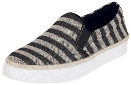 Refresh Striped Slip On Sneakers zwart-beige