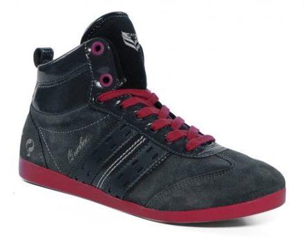 Quick Quebec Mid Junior Lace Sneaker Kinderen (Grijs,Fuxia Roze)
