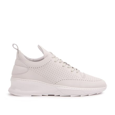 Filling Pieces Steel Runner Shark Perforation (zilver/wit)