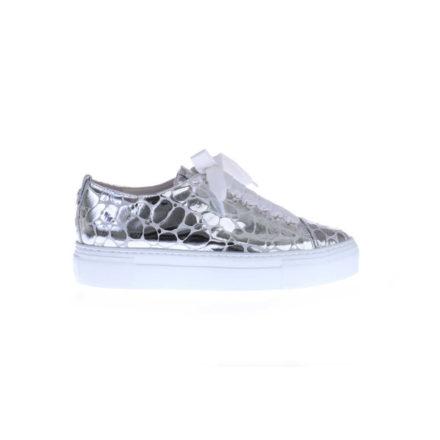 Sneaker Kroko Print (Grijs)