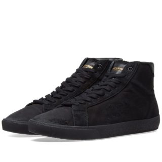 Saint Laurent SL-06 Mid Signature Canvas Sneaker (Black)