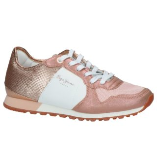 Jeans Rose Gold Sneakers (blauw/roze/goud)