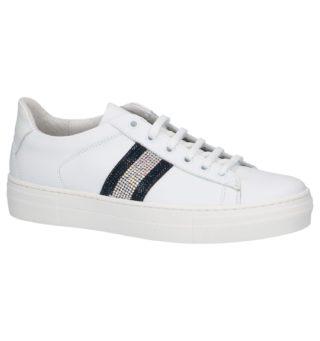 Lage Sneakers Wit met Steentjes (wit/overige kleuren)