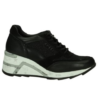 Sneakers met Sleehak Cetti (zwart)
