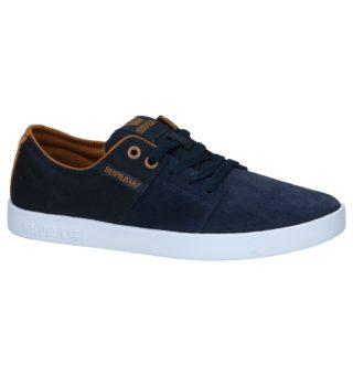 Donkerblauwe Lage Geklede Sneakers Supra Stacks II | TORFS.BE | Gratis verzend en retour