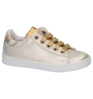 Gouden Lage Geklede Sneakers (goud)