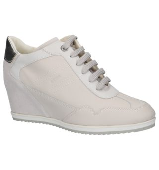 Sneakers met Sleehak Geox Illusion (creme)