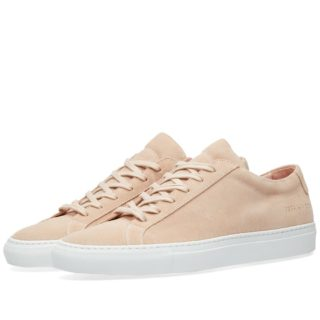 Woman by Common Projects Original Achilles Low Suede (Pink)