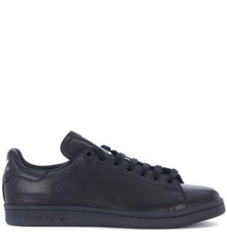 Raf Simons Adidas By Raf Simons Stan Smith Black Leather Sneakers (zwart)